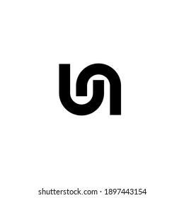ln un minimal logo icon design vector isolated design