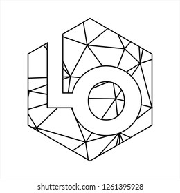 LO initial geometric polygonal logo