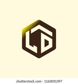 LO Initial letter hexagonal logo vector