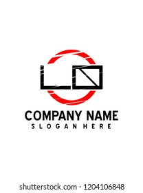 LO Initial logo with circle template vector