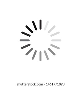 Load icon template color editable. Loading symbol vector sign isolated on white background illustration for graphic and web design.