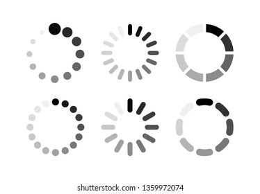 Load icon vector. Set icon buffer and loading symbol