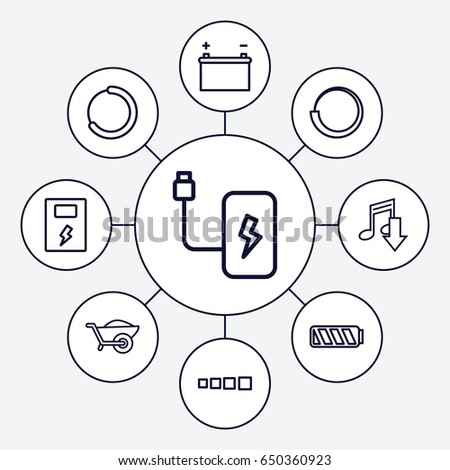 Load Icons Set Set 9 Load Stock Vector Royalty Free 650360923
