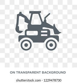 Loader icon. Trendy flat vector Loader icon on transparent background from Construction collection. High quality filled Loader symbol use for web and mobile