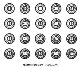 Loader timer icons set