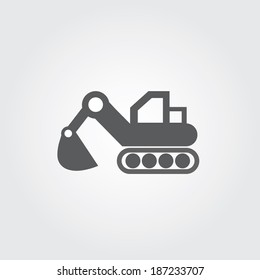 loader vector icons on gray background