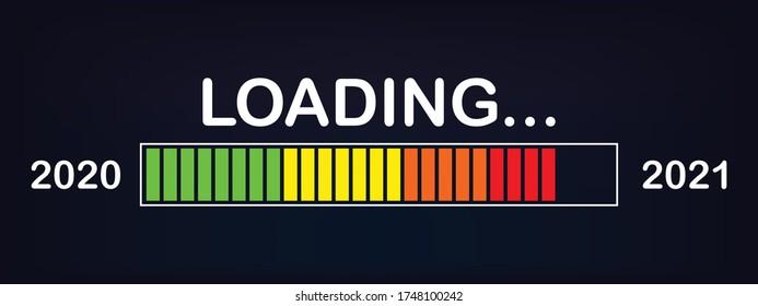 Loading bar 2020/2021 : new year loading