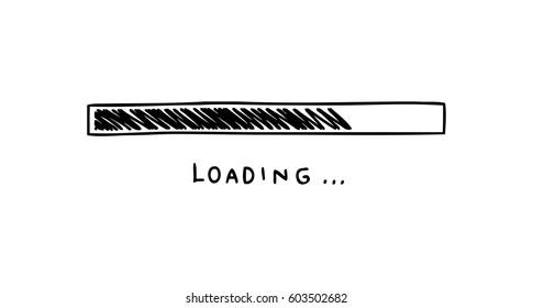 loading bar doodle