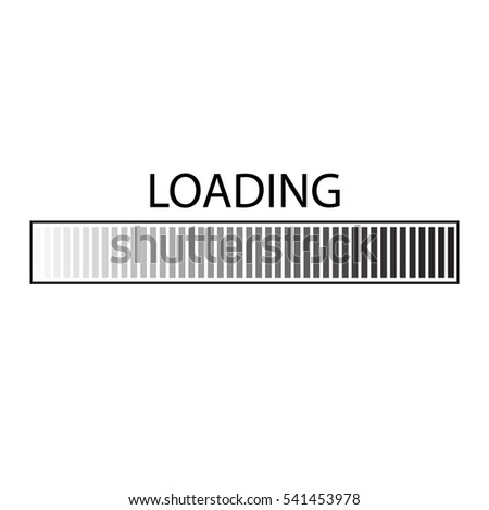 Loading Bar Element Icon Users Completion Stock Vector Royalty Free