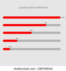 loading bar geometric isolated flat design for website smart phone android many more