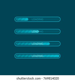 Loading bar icon. Creative web design element. Vector illustration