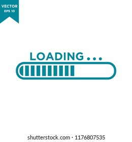 loading bar icon in trendy flat design