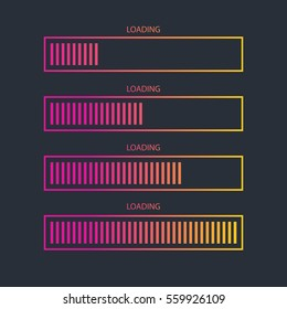 Loading bar icon.Creative web design element