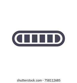 loading bar. monochrome icon