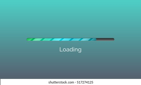 Loading bar. Vector illustration of loading progress