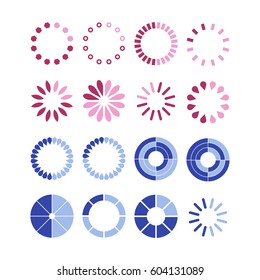 Loading and buffering templates. Vector illustration