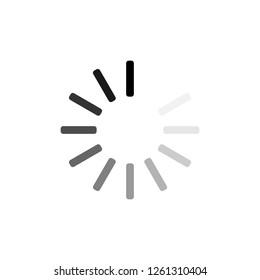 Loading circle icon. Vector illustration, flat design.