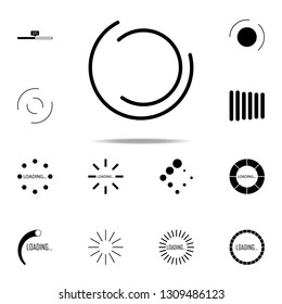 loading circles  icon. Loader icons universal set for web and mobile