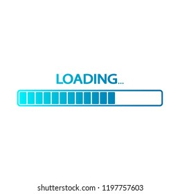 Loading. Color. Vector illustration.