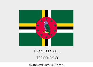 A Loading Flag Illustration of the country of Dominica