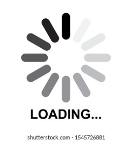 Loading icon design. loading bar icon in trendy flat style design. Vector illustration.