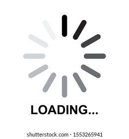 Loading icon design. buffering icon in flat style design. Vector illustration.