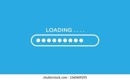 Loading icon flat design. vector illustration