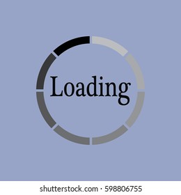 Loading icon isolated sign symbol and flat style for app, web and digital design. Vector illustration.