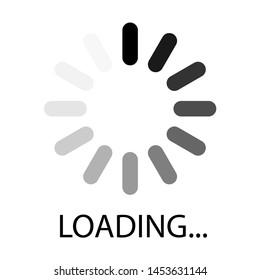 Loading icon, logo isolated on white background