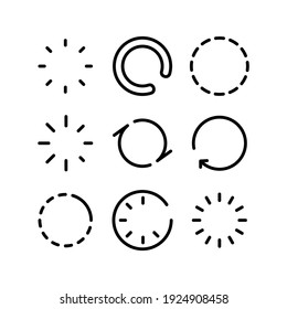 loading icon or logo isolated sign symbol vector illustration - Collection of high quality black style vector icons