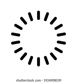 loading icon or logo isolated sign symbol vector illustration - high quality black style vector icons