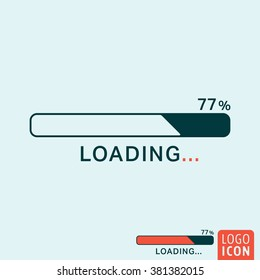 Loading icon. Progress bar icon isolated, minimal design. Vector illustration