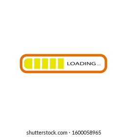 Loading icon vector in flat design
