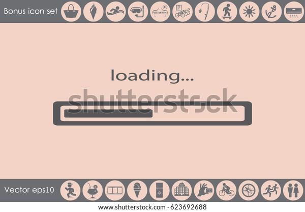 loading icon vector illustration EPS 10
