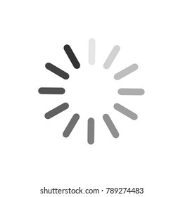 Loading icon vector isolated on white background