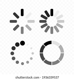 Loading icons. Load. load vector icons, isolated. Loading vector icon. Vector illustration