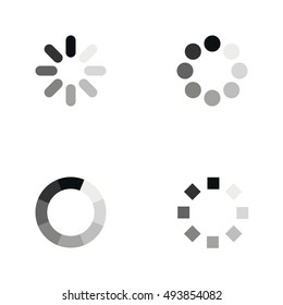 Loading icons set. Web page or mobile app