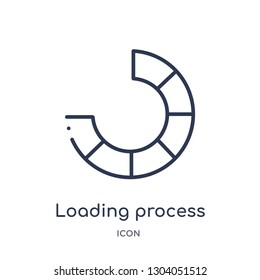 loading process icon from user interface outline collection. Thin line loading process icon isolated on white background.