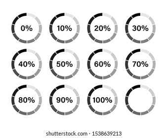 Loading process indicator isolated vector concept design. Technology concept vector design. Progress bar. Circle loader. Vector bright background. Upload download round process. EPS 10
