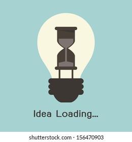 Loading progress on idea concept