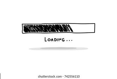 loading sign doodle