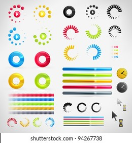 Loading, Streaming, Buffering, Play, Go set of Vector Icons