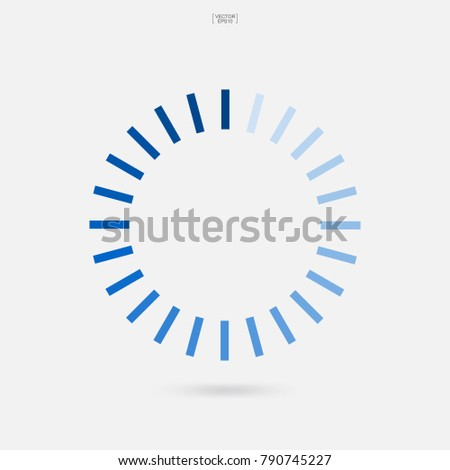 Loading Symbol Abstract Spinner Icon Web Stock Vector Royalty Free