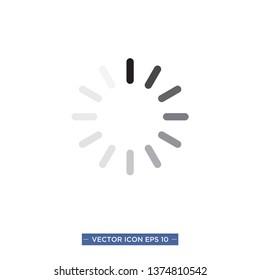 loading,buffering icon vector illustration