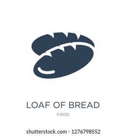 loaf of bread icon vector on white background, loaf of bread trendy filled icons from Food collection, loaf of bread vector illustration