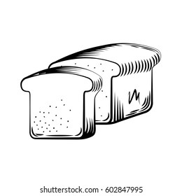loaf icon over white background. bakery products concept. vector illustration