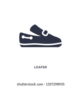 loafer isolated icon. Simple element illustration from clothes concept. loafer editable logo symbol design on white background. Can be use for web and mobile.