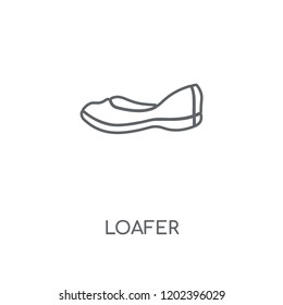 Loafer linear icon. Loafer concept stroke symbol design. Thin graphic elements vector illustration, outline pattern on a white background, eps 10.