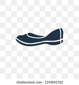 Loafer vector icon isolated on transparent background, Loafer transparency concept can be used web and mobile