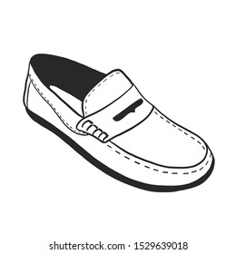 Loafers handdrawn silhouette vector illustration
